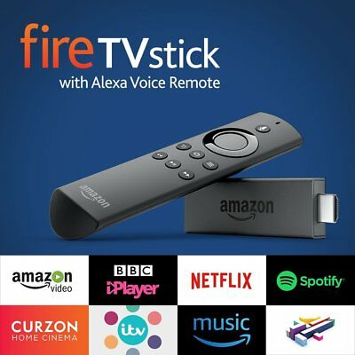 All-New Fire TV Stick with Alexa Voice Remote 8 GB -Streaming Media Player-NEW