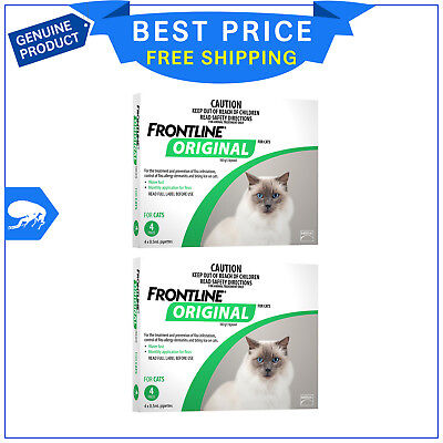 FRONTLINE ORIGINAL For Cats and Kittens Flea treatment 8 Pipettes (4 Pack X 2)
