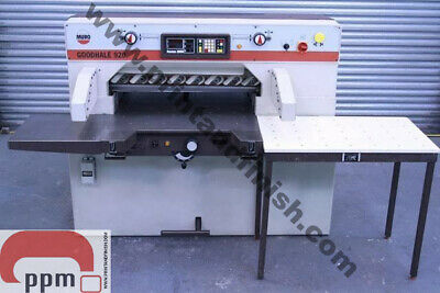 Goodhale 920 Programmable Guillotine with Light Beam Guards (£7000 + VAT)