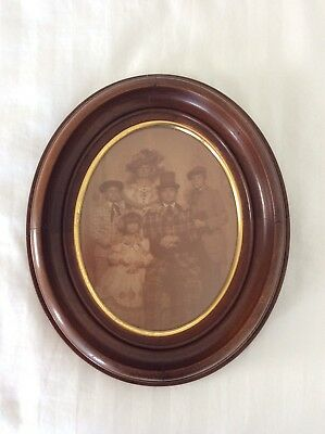 Antique Oval Picture Frame Wooden With Gilt Victorian 10 By 12