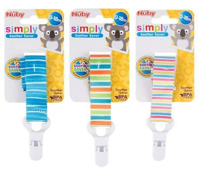 Baby Soother Saver Clip Unisex Dummy Pacifier Dummies Kids Strap Tether