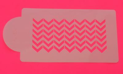 Chevron Cake Stencil Side x 1 Outline Border Cake Top Icing Decorating
