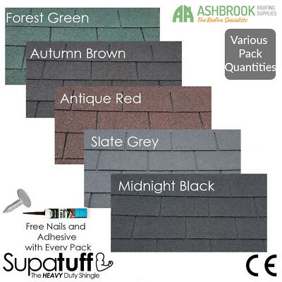 Roofing Felt Shingles | Heavy Duty Felt Tiles | Pack Quantities | Free Adhesive