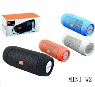 Cassa Speaker Bluetooth Tf Usb Vivavoce Cellulare Ipod Smartphone Tablet W2 Sc0