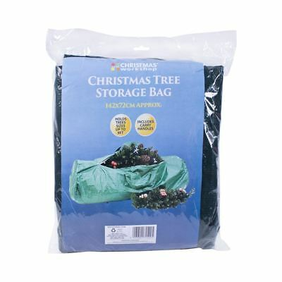 The Christmas Workshop 142x72cm Christmas Tree Storage Bag, Green