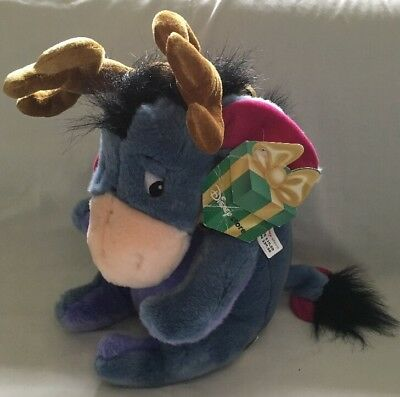 Disney Store Reindeer Eeyore Christmas With Tags