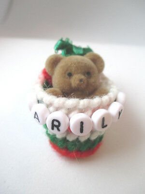 Personalized teddy bear pin with the name MARILYN new-handmade