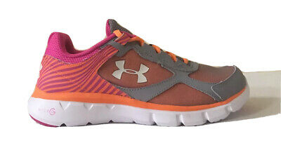 Under Armour UA kids Girls Grade School Micro G Velocity Running Shoes