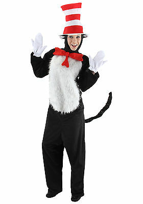 Dr. Seuss - The Cat In The Hat Adult Deluxe Costume - Elope