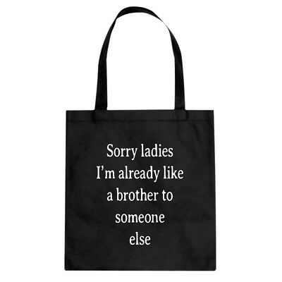 Tote Sorry ladies Canvas Shopping Bag #3536