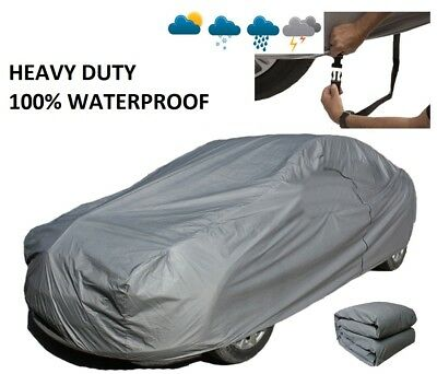 Extra Large XL Heavy Duty 100% Waterproof Outdoor Full Car Cover Breathable