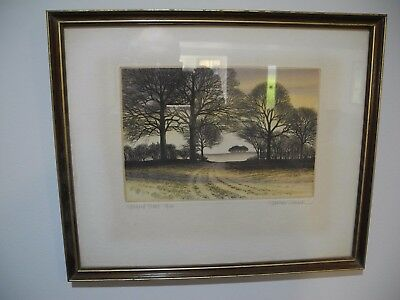 """Kathleen Caddick LImited Edition Framed Prints,""""Hills beyond"""" and """"Upland trees."""