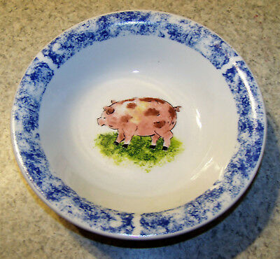 Cute Pink Pig In Grass Bowl - Free Shipping