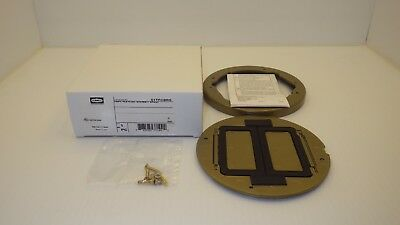 Hubbell S1Tfcbrs Systemone Tile Flange & Floor Box Cover, Brass Finish, Nib