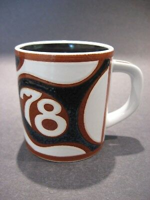 Vintage Royal Copenhagen 1978 Annual Small Mug by Bo Kristainsen #3495