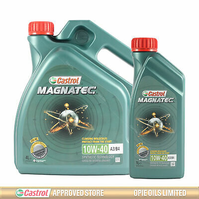 Castrol Magnatec 10W-40 Part-Synthetic Engine Oil ACEA A3/B4 - 5 LITRES (4L+1L)