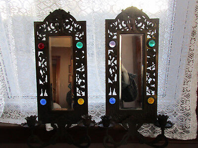Pair Large Ornate Antique Eastlake Victorian Ange/Cherub Candle Wall Sconce (t)