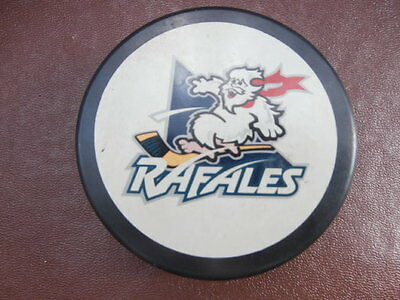 "ICE HOCKEY PUCK - GOOD CONDITION - 7.5cm. Dia. x H.2.5 cm - ""RAFALES"" / ""VEGUM"""