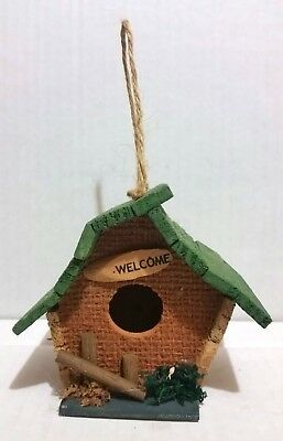 Rustic Country Marquee Wood Decorative Birdhouses, Welcome