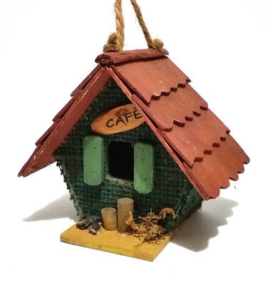 Rustic Country Marquee Wood Decorative Birdhouses, Cafe