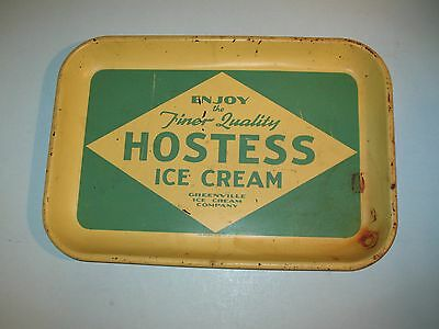 rare ~ ENJOY HOSTESS ICE CREAM TRAY ~ GREENVILLE ICE CREAM COMPANY~ S.C.~ VHTF
