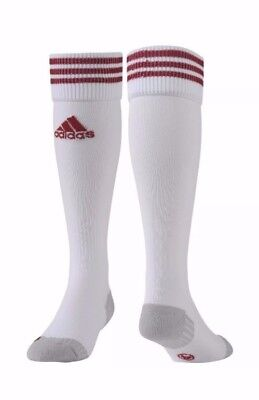 adidas adiSock Football Sport Socks White/Red size UK 10.5-12