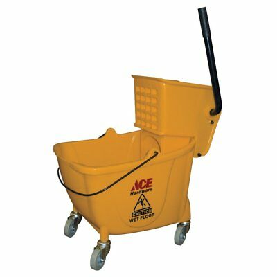 Ace 1346246 Combo Pack Heavy Duty Bucket/Mop Wringer, 35 QT, FREE SHIPPING