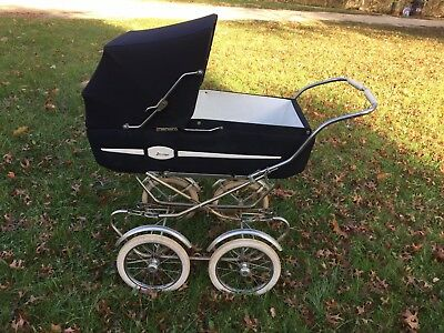 Vintage Made in Italy, Perego baby carriage/stroller, dark blue