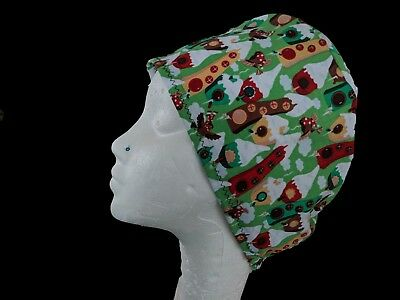 Christmas Robins Operating Theatre Scrub Caps/Hats - nurse, ODP, surgeon, vet