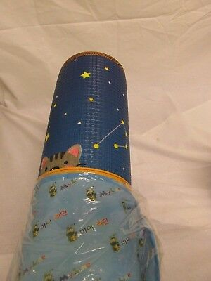 MyLine Baby 2 Sided Play-Mat Extra Thick Night Sky Animals/ ABC Train Reversible