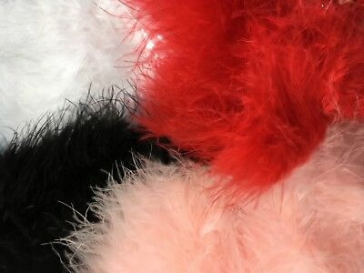 Marabou Feather Swansdown Soft Trimming Trim  10 Colours Various lengths