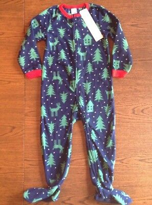 d26f5d678a NWT Baby Gap Kids Blanket Sleeper Footed Fleece Pajamas 3 3T Holiday Boy s  Girls