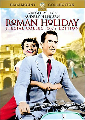 Roman Holiday DVD (1953), Gregory Peck, Audrey Hepburn, FREE SHIPPING !