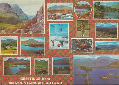 Postcard - Mountains of Scotland.  Greetings from... - 15 views