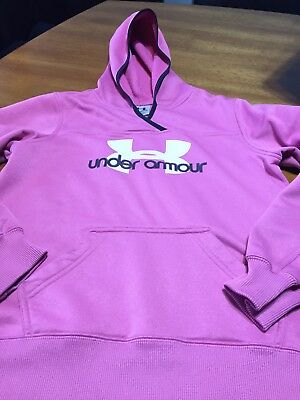 Under Armour Cold Gear Loose Fit Girl's YLG Pink Hoodie - Youth Large