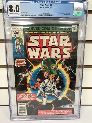 STAR WARS #1 (Marvel 7/ 1977) CGC 8.0 off-white/white pages A New Hope New Slab