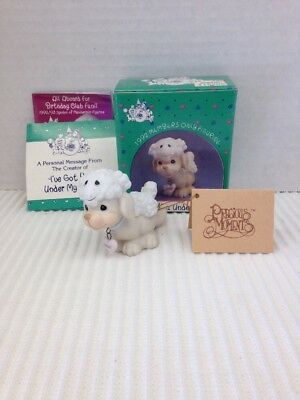 """Vintage 1992 Precious Moments Members Only  """"ive Got You Under My Skin"""" - Mib"""