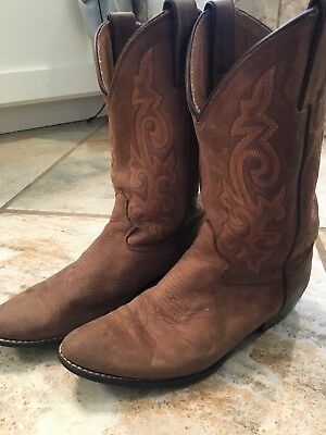 Girls Brown Leather Justin Cowgirl Boots Size 2