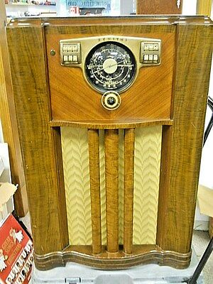 1941 Zenith 10-S-567 Console AM Shortwave Radio 10 Tube Chassis Refurbished NICE