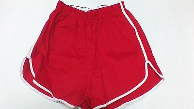 Vintage 60s 100% cotton gym shorts XS-L made in the usa RED RUSSELL ATHLETIC