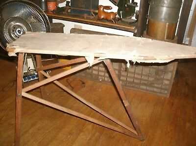 Vintage Antique No 34 Our Own Ironing Table Board National Washboard Co Chicago