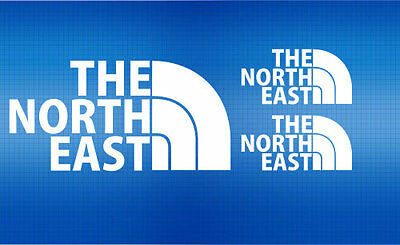 The North East Stickers x 3