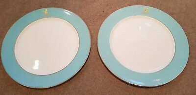 Vintage/Rare/Collectable x2 Royal Daulton 1928-59 stamped The Ritz London Plates