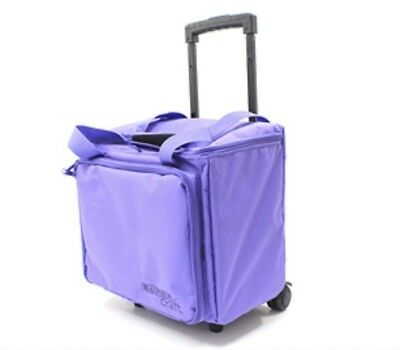 Scrapbooking Paper Craft Storage Tote Trolley Bag Lilac