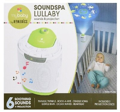 myBaby Soundspa Lullaby Sound Machine and Projector Auto-Off Timer MYB-S300