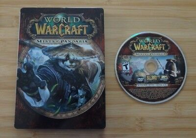 World Of Warcraft Steelbook Mists of Pandaria Game DVD ROM Disc 2 Only!