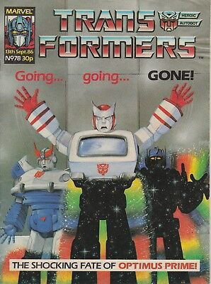 Marvel UK The Transformers #78 (1986) Rare British Weekly Comic