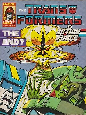 Marvel UK The Transformers #166 (1988) Rare British Weekly Comic
