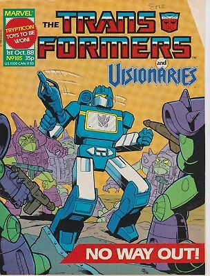 Marvel UK The Transformers #185 (1988) Rare British Weekly Comic