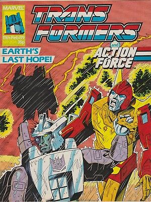 Marvel UK The Transformers #204 (1989) Rare British Weekly Comic w/ Feb Calender